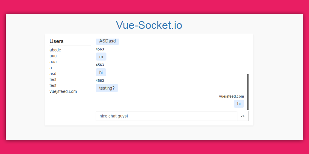 Vue Socket Socket With Vuejs Vuejs Feed