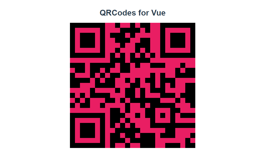 QRCode Component for Vue js - Vue js Feed