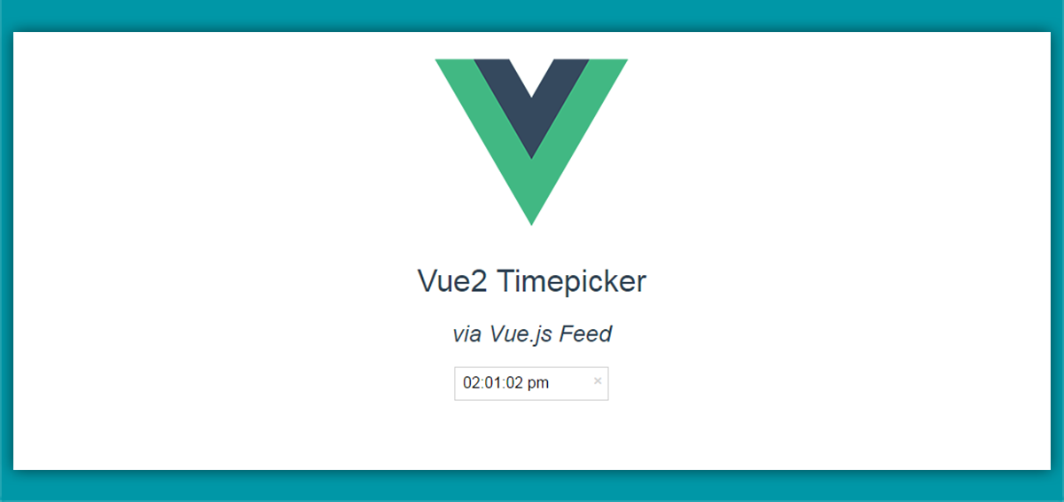 Set time with the dropdown time picker for Vue 2 - Vue js Feed