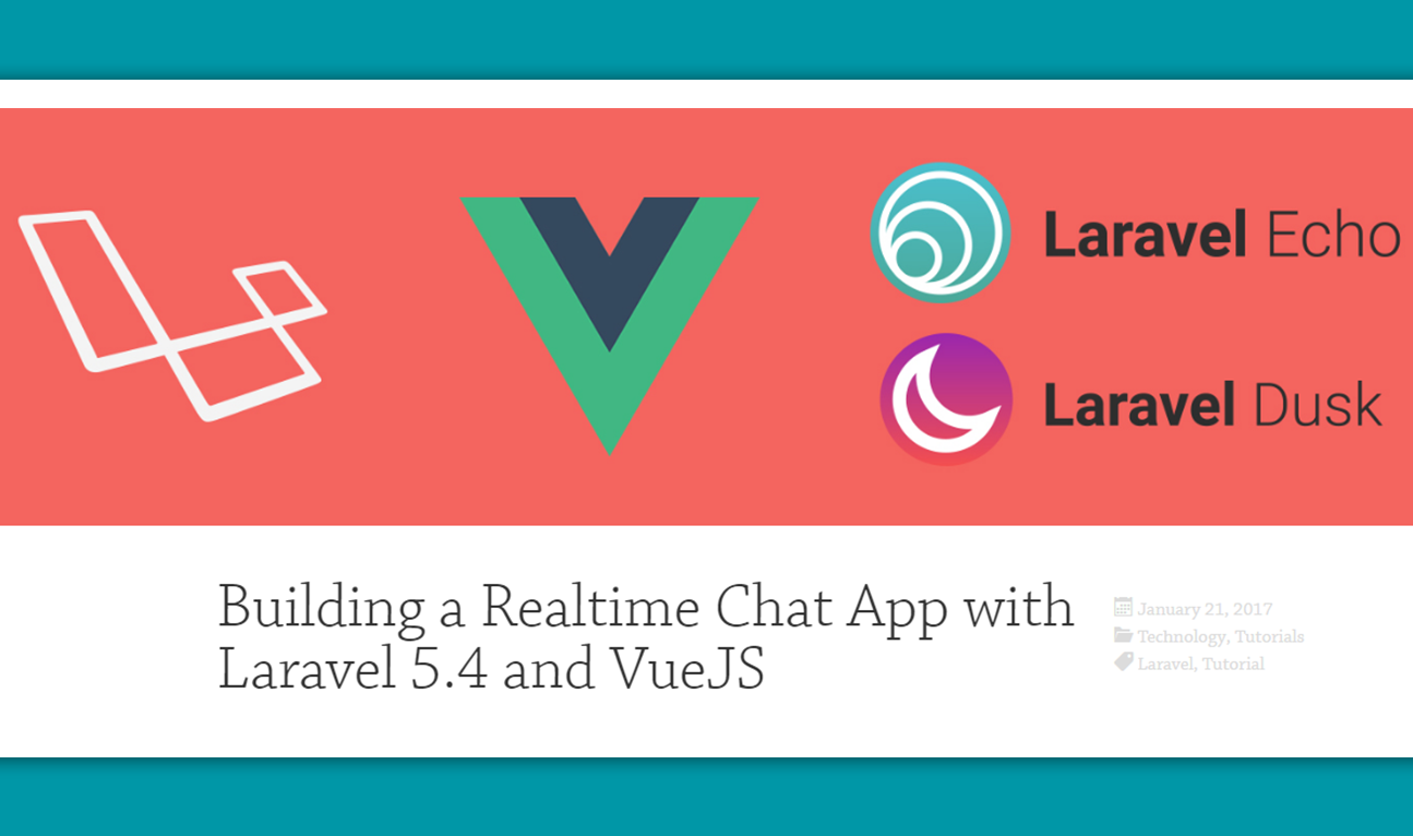 Building a Realtime Chat App with Vue js and Laravel - Vue