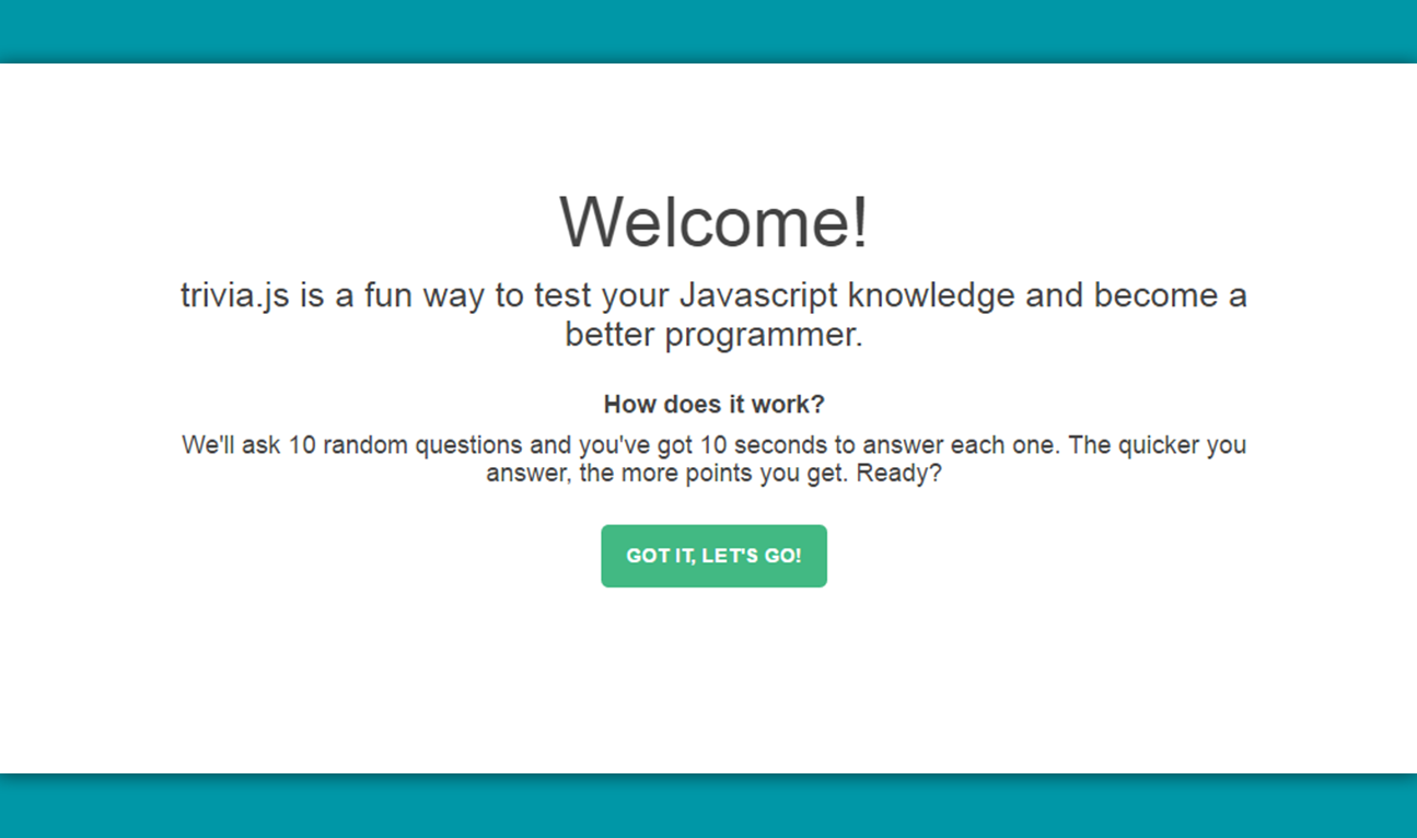 Test your Javascript knowledge with Trivia js made with Vue js - Vue