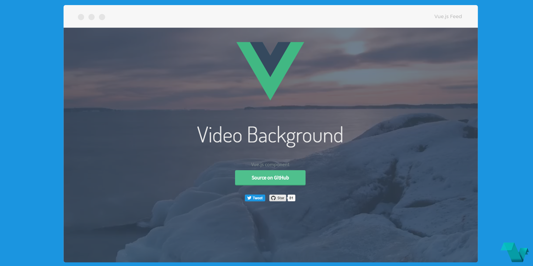 Video Background component for Vue js - Vue js Feed