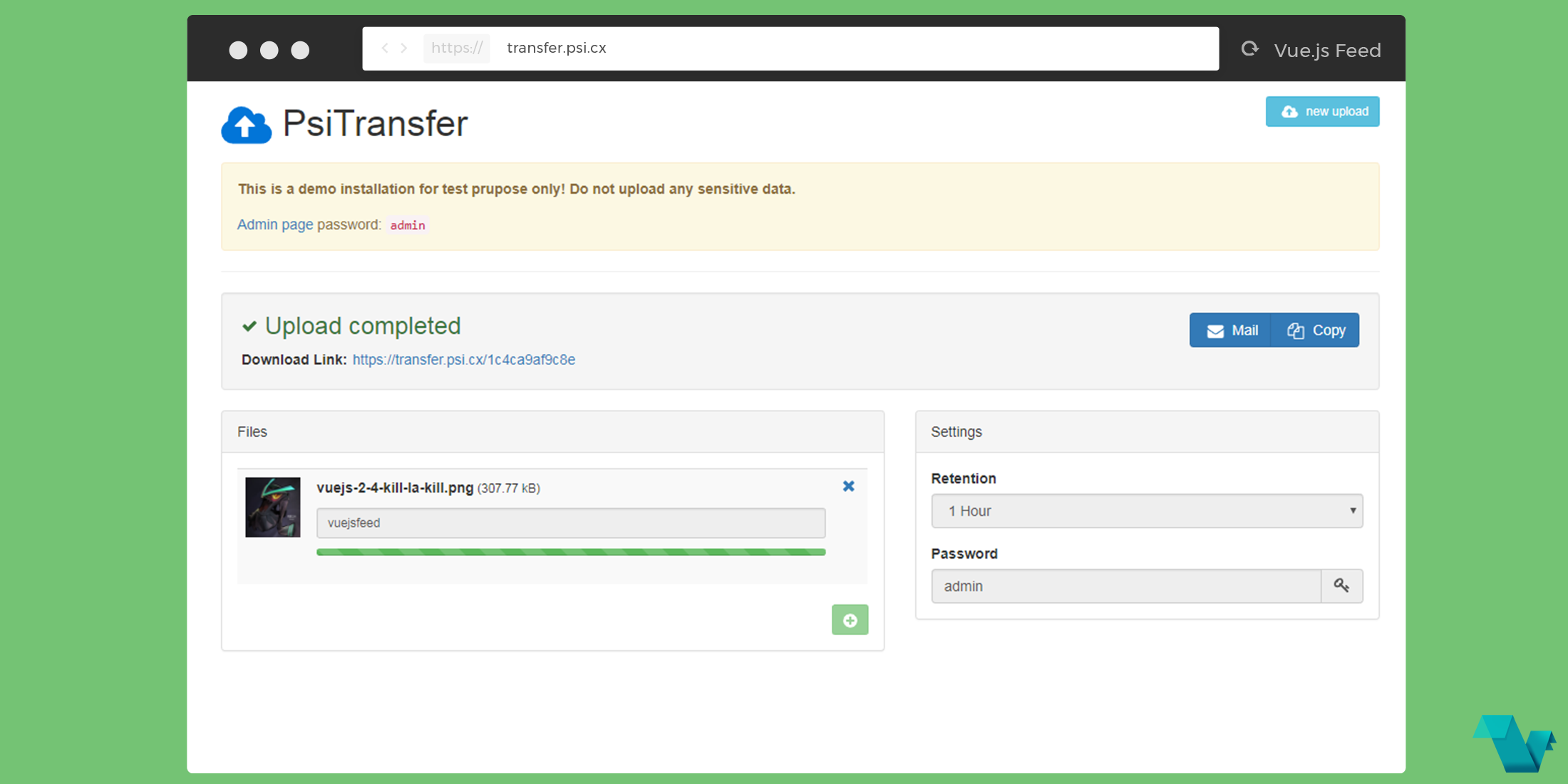 PsiTransfer: An open source self hosted file sharing solution