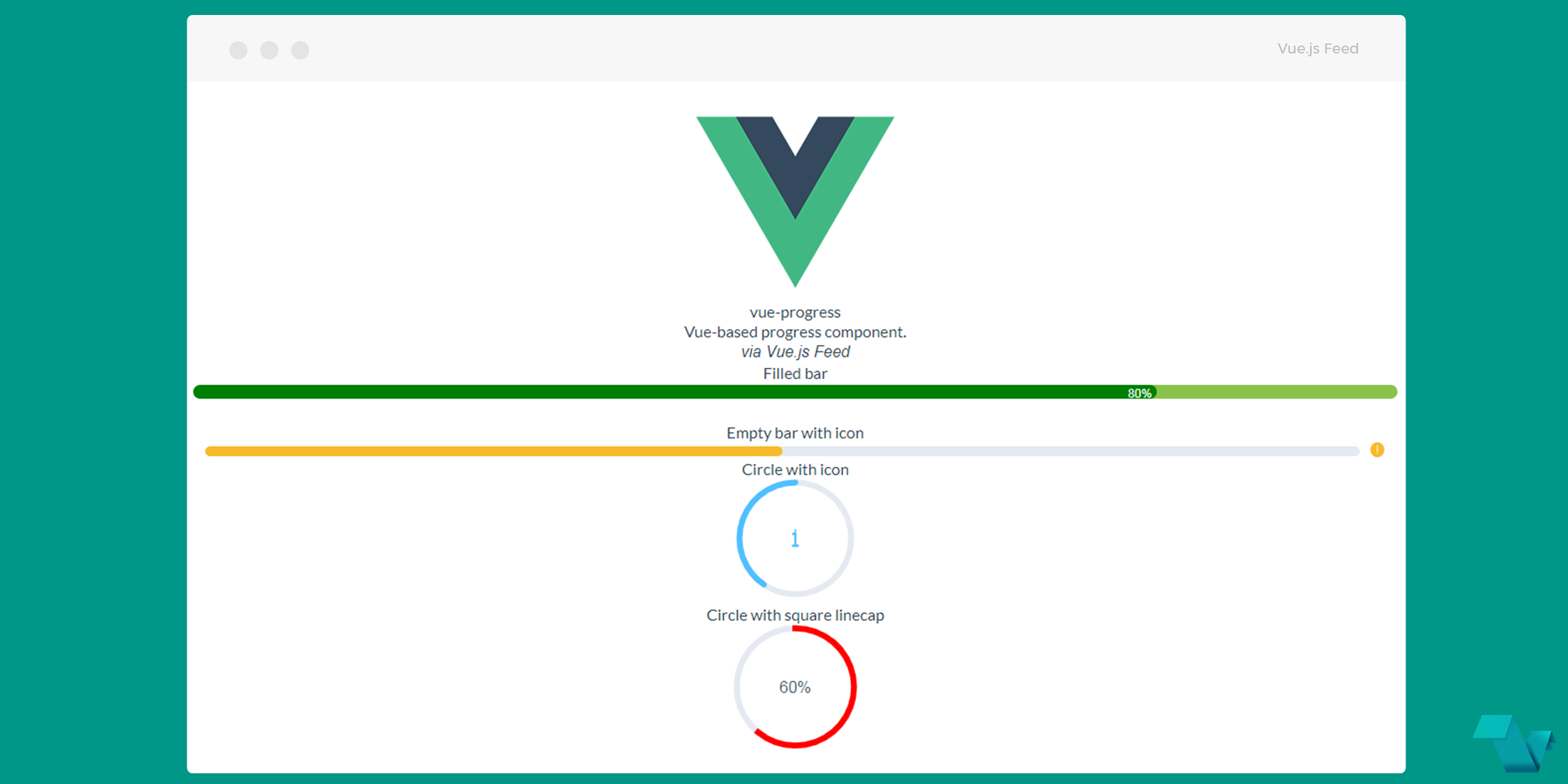 Create progress bars and circles with Vue Multiple Progress - Vue js