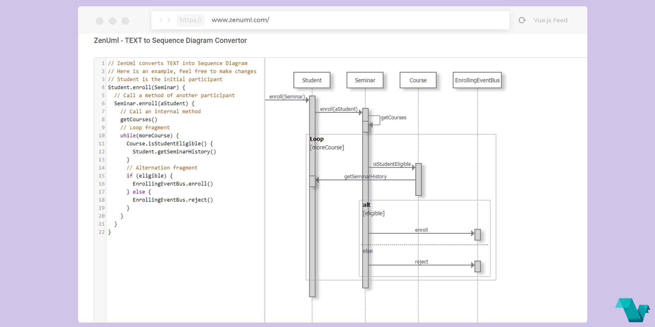 Zenuml text to sequence diagram converter powered by vuejs vue blog image ccuart Gallery
