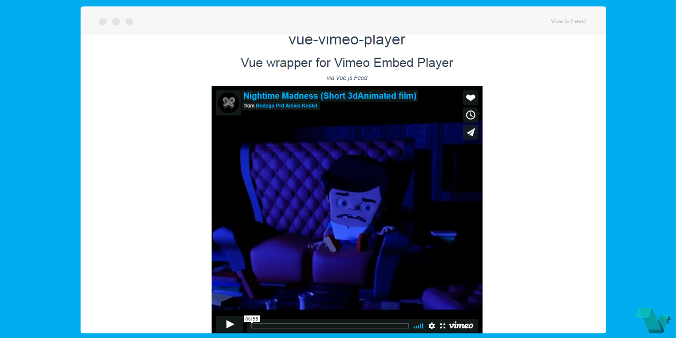 Vue js wrapper for Vimeo Embed Player - Vue js Feed
