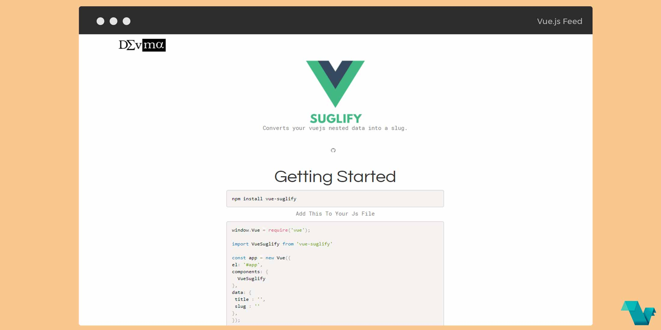 Convert your Vue js nested data into slugs - Vue js Feed