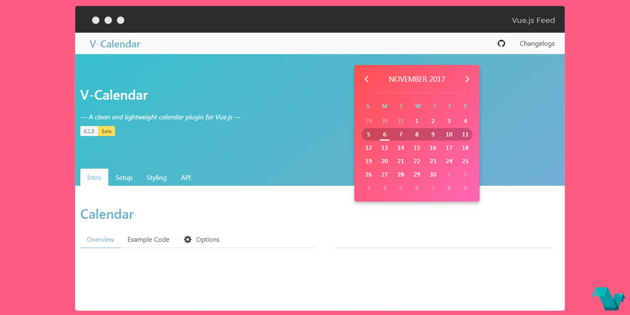 V-Calendar: A clean and lightweight calendar plugin for Vue js - Vue