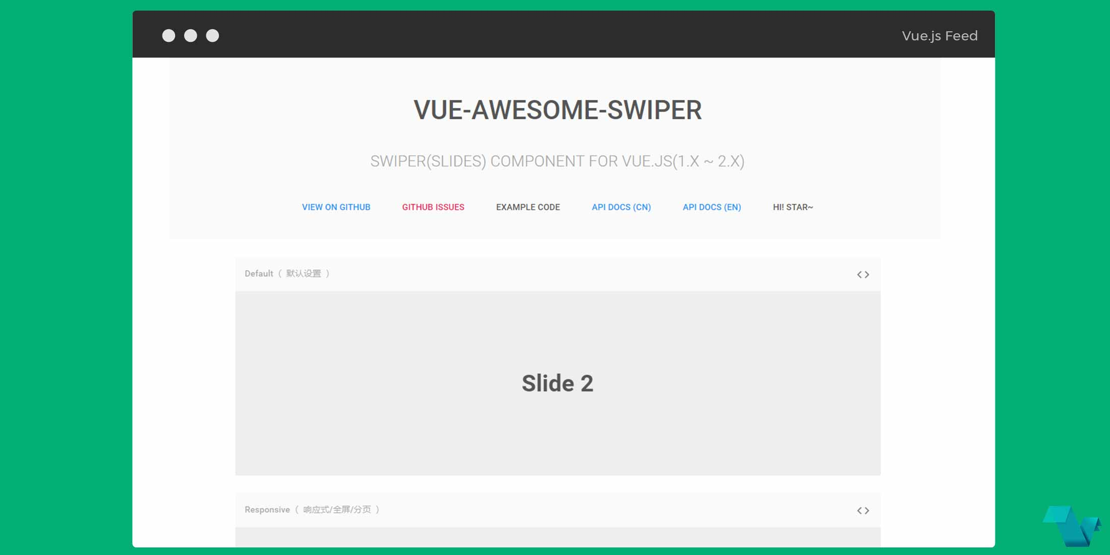 Get sliders using the Vue Awesome Swiper component