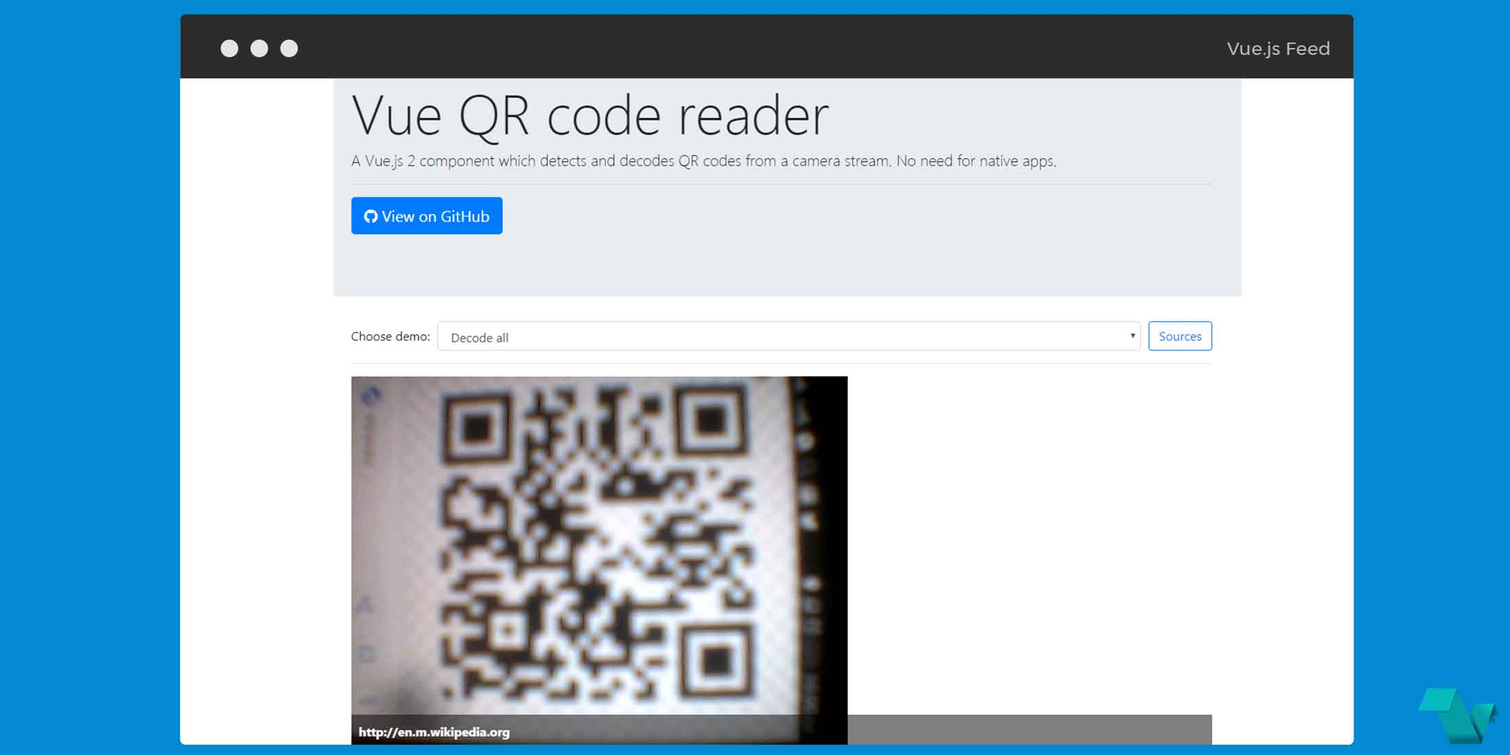 Detect and decode QR codes using a Vue js component - Vue js
