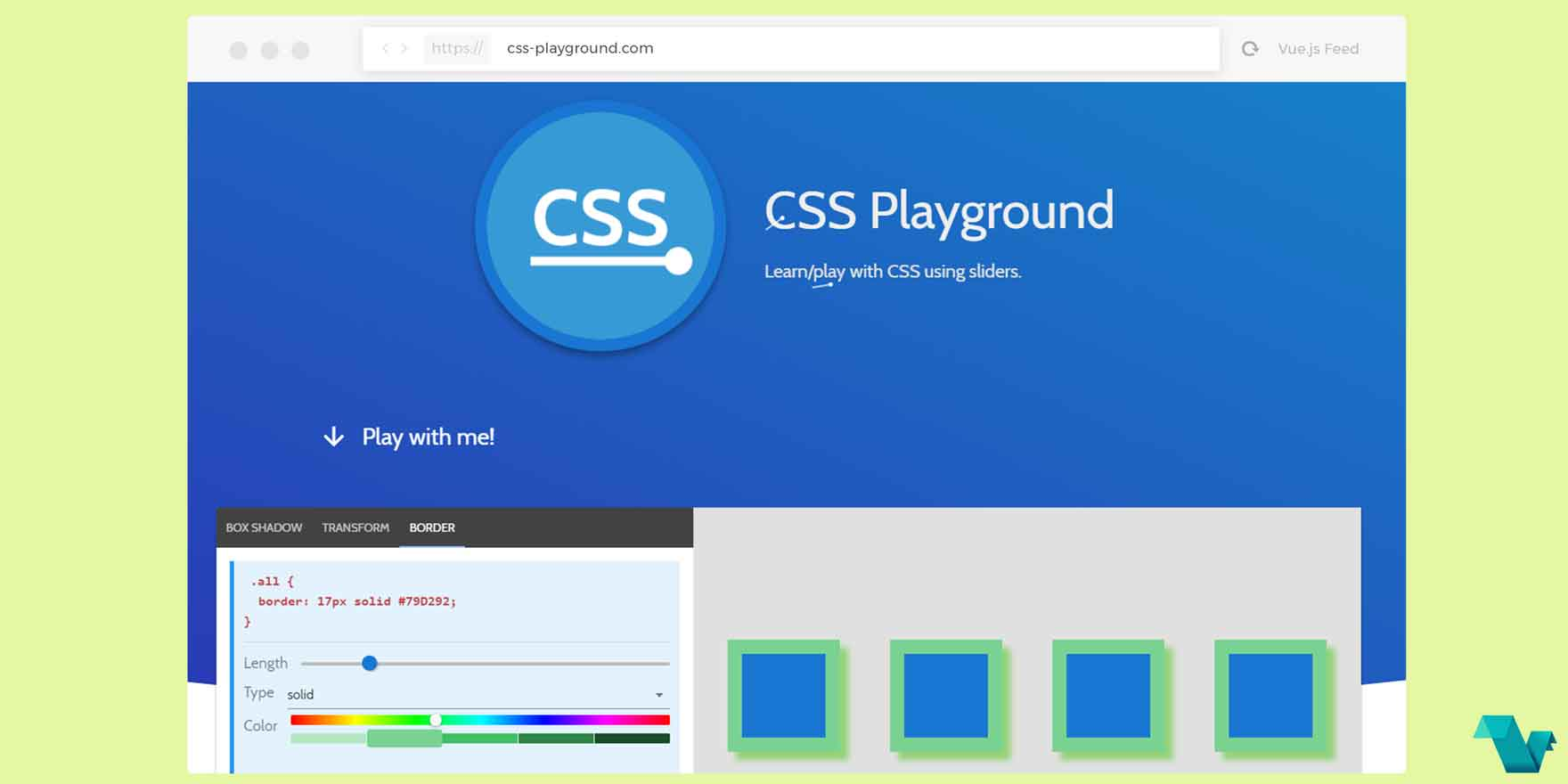 CSS Playground: A Nuxt js powered app - Vue js Feed