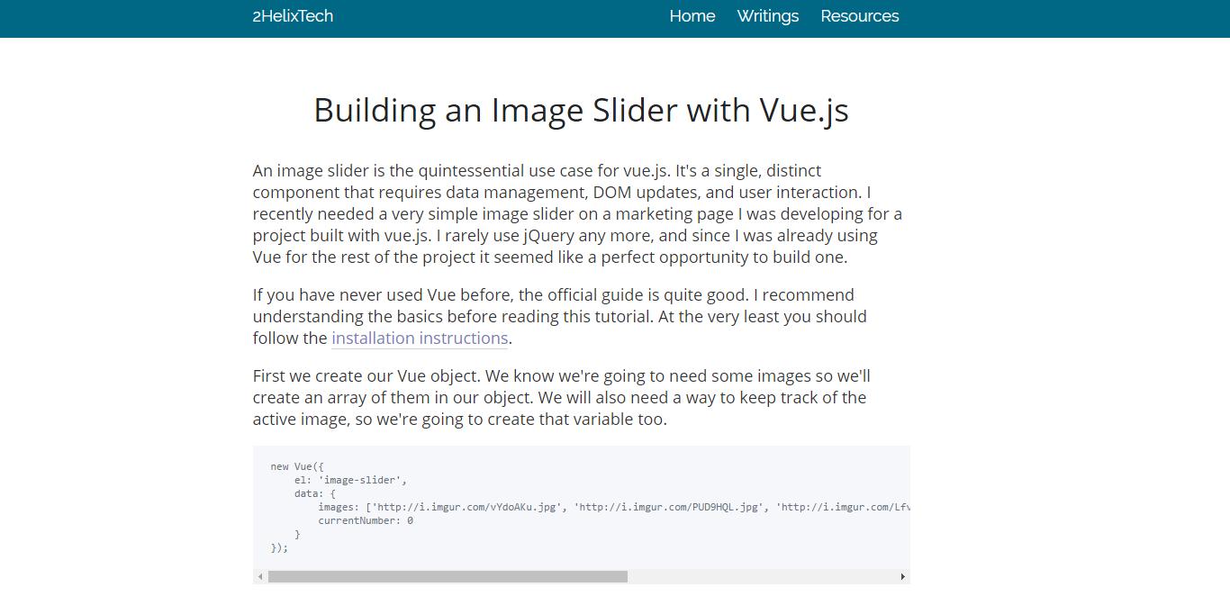 Build an Image Slider with Vue js - Vue js Feed